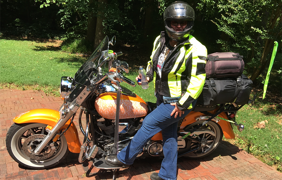 Roadstar – 60,900 milesWhat do you love most about touring on your Star?Dependability and the freedom she brings me!!! I have owned a star motorcycle since 2002 when I started riding on the road.  I've had a 650, 1100, 1600, and now my 1700.  I put over 100k miles on my 1600 when I sold it to replace with one with fewer miles only to appease my mother (the Harley Rider). We take trips together annually for 2 weeks ranging from 4000 - 7000 miles depending on where we go over that 2 weeks. I LOVE MY STAR MOTORCYCLES and my HD family will tell you I am HOPELESSLY DEVOTED!!