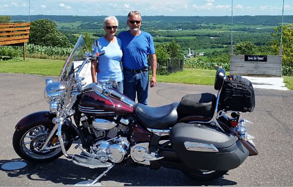Stratoliner S – 21,000 milesWhat do you love most about touring on your Star? In the mid 70's, I started riding two up with my girlfriend on a 1973 Yamaha 250. I still own that bike and have been married to that girl for 41 years. Three years ago we bought our 2009 Stratoliner in order to start touring our beautiful country and two years ago joined Star Touring and Riding in order to travel with like-minded people. We most enjoy the feeling of riding our bike on twisty country roads, being more connected to the scenery and enjoying the sensation of carving turns on two wheels.