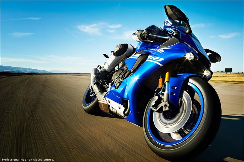 Motorcycle Yamaha YZF-R1 on a white background wallpapers